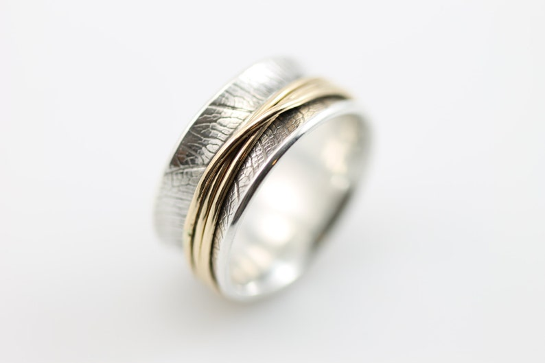 Fine Jewelry Precious Metal Without Stones Spinning Ring