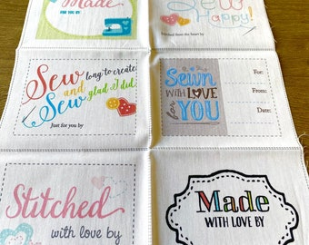 10 Fill-in Quilt Labels by Marcia Copeland for Modern Yardage
