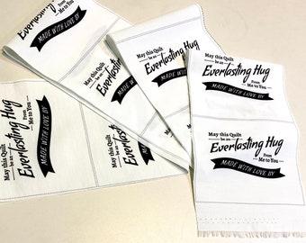 """13 Quilt Labels """"Everlasting Hug"""" by Katie Tandlmayer"""