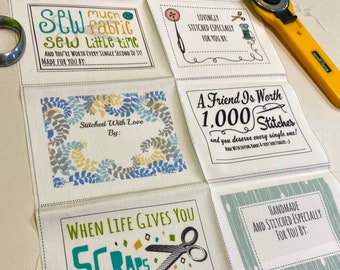 10 Fill-in Quilt Labels by Heather Dutton for Modern Yardage