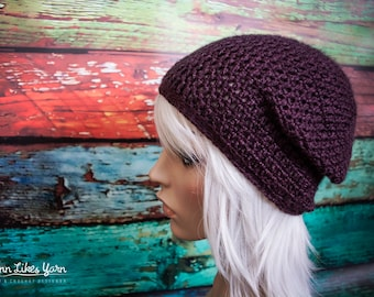 MADE TO ORDER - Simple Crochet Slouchy Beanie