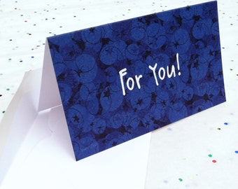 Folded Gift Enclosure Mini Card Blueberry For You Set of Three