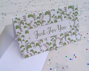 Lily of the Valley Folded Gift Enclosure Mini Card Set of Three