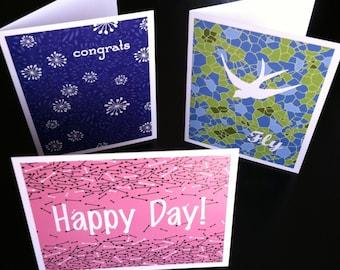 Celebrations Blank Note Card Set Six Pack