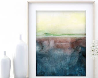 "Abstract Watercolor Painting, soft, Serene, Peaceful, Tranquil, Original art ""Ethereal Travels 10"" Kathy Morton Stanion EBSQ"