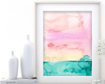 "Abstract Watercolor Painting, soft, Serene, Peaceful, Tranquil, Original art ""Ethereal Travels 9"" Kathy Morton Stanion EBSQ"