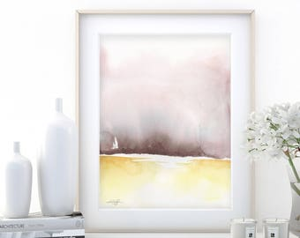 "Abstract Watercolor Painting, soft, Serene, Peaceful, Tranquil, Original art ""Ethereal Travels 7"" Kathy Morton Stanion EBSQ"