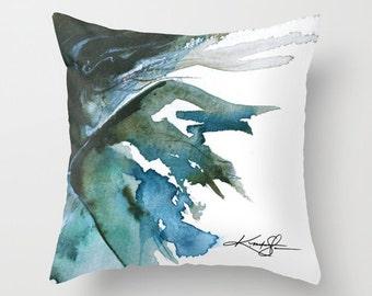 "Fairy Pillow, Fairy Painting, Watercolor Art, ""Ariella"" Original Fairy watercolor art painting by Kathy Morton Stanion  EBSQ"