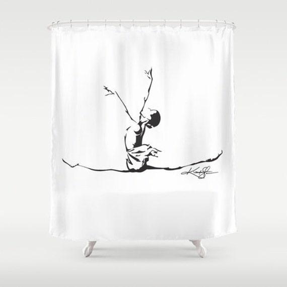 Ballet Dancer Shower Curtain Dance Art