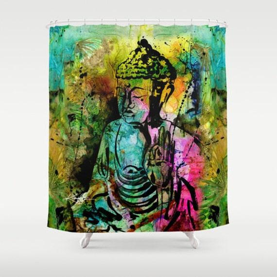 Buddha Shower Curtain Zen Painting From Original