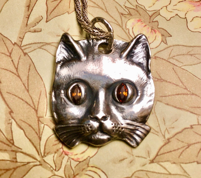 Silver Handmade Rattle Kitty