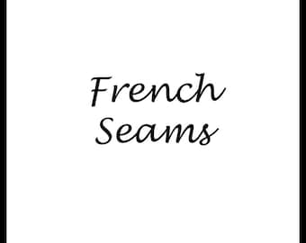 French Seam Option on Any Gown