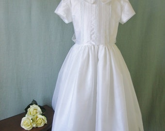 Girls First Communion Dress with Sleeves - Kathleen