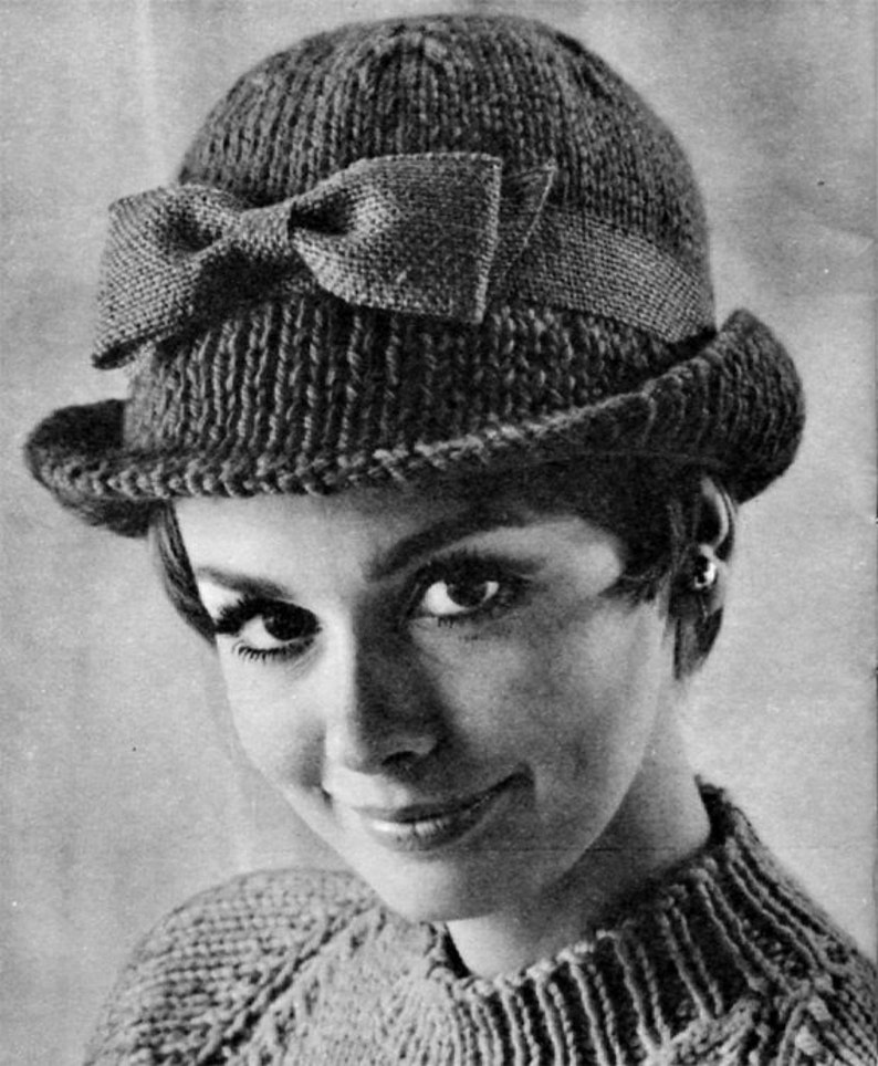 a145786eaca Vintage Tailored Hat 1960s Hat Pattern Vintage Knitting
