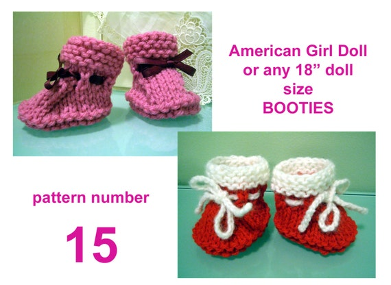 Simple Doll Booties Knitting Pattern Etsy