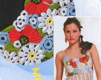 Poppy Tunic  Irish crochet pattern  size 44-46 EU / 6-8 US