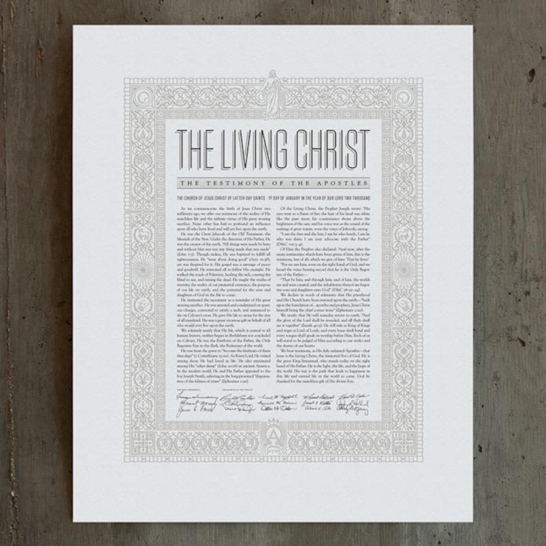 The Living Christ  / New / Modern / Design / Letterpress image 0