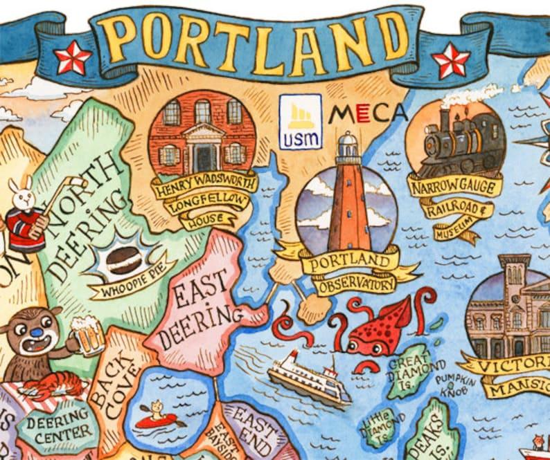 Portland Maine City Neighborhood Map 16