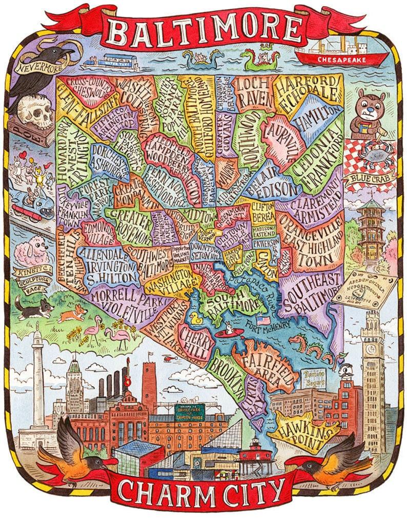 Image result for baltimore maryland neighborhood map