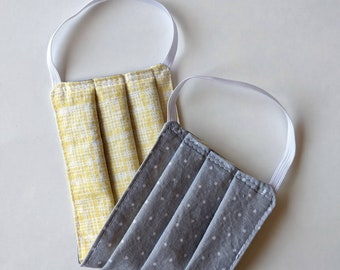 Face Mask - Adult - Reversible and Washable Cotton with Elastic