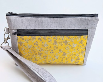 Zippered Wristlet with Strap