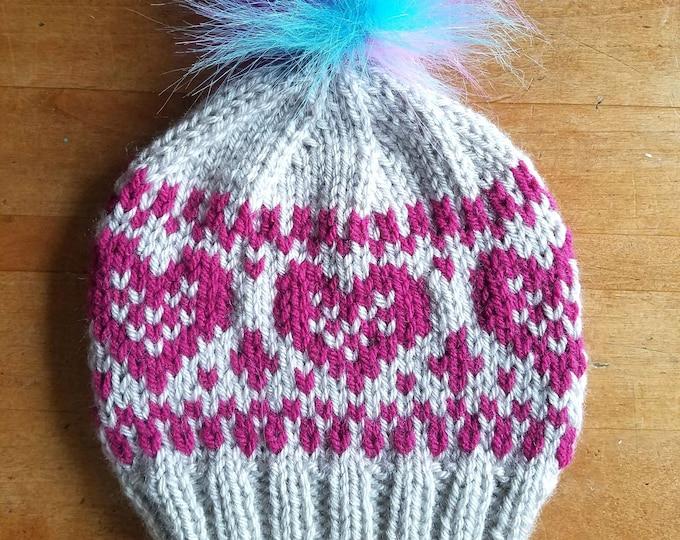 Lovely Sentiment Hat - PDF knitting pattern