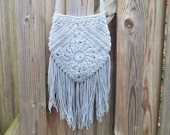 Fringed Crochet Boho Bag
