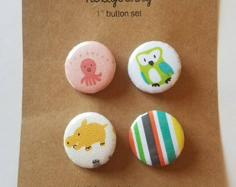 "Set of 4 - 1"" Buttons"