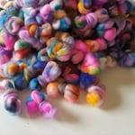 Scrappy Rainbow Bits - Superwash Merino Roving