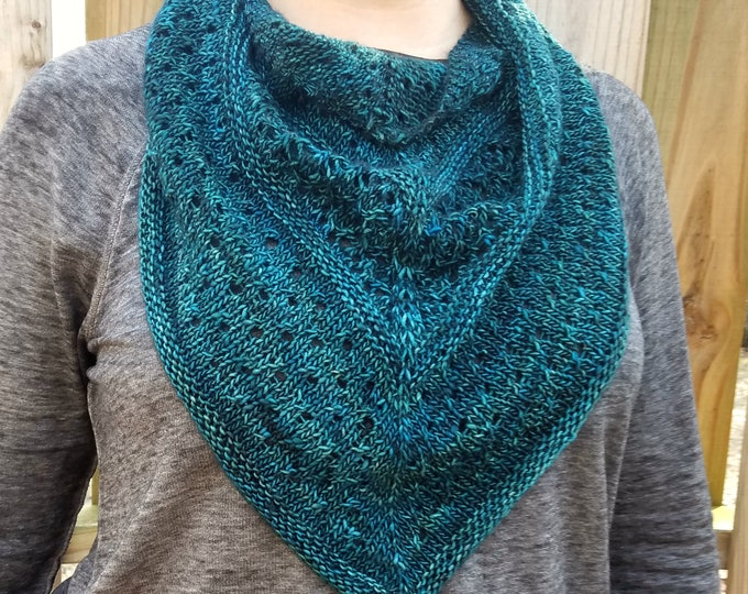 Lace Eyelet Cowl - PDF knitting pattern