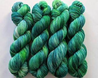 Field of Greens - Hand-dyed Sock Yarn