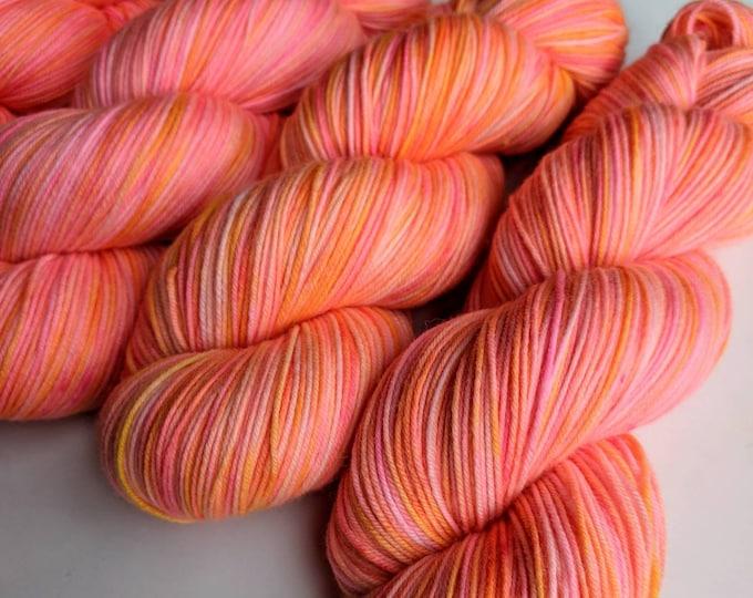 Pink Lemonade Second - Hand-dyed Sock Yarn