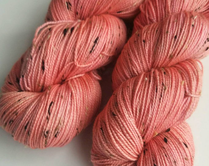 Salmon Pink - Hand-dyed Sock Yarn