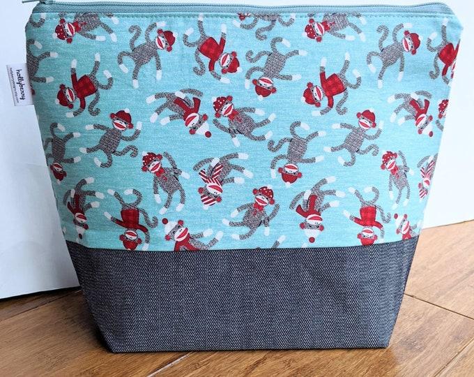 Tall Zipper Bag - Project Bag