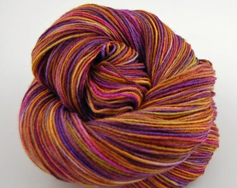 "Wonder Sock yarn - ""The Fallen"" - superwash Blueface wool and nylon 465 yards 3.5 ounces"