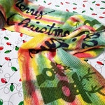 Sparkle sock Blank - Deer Christmas- limited edition for the holidays traditional colors of red,green and yellow