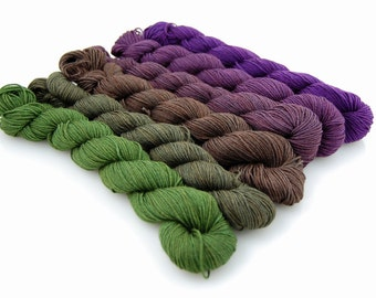 NIGHTMARE-MYS 622 Gradient set- 150 yards per skein (900 yards total)
