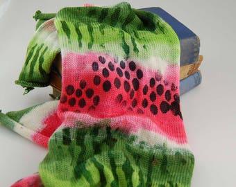 """Single knit sock blanks - """"Watermelon"""""""
