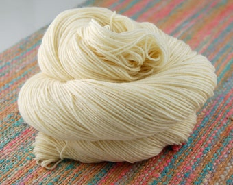 Wonder Sock yarn - NAKED (undyed) 465 yards 100 grams- 75/25 Superwash Blueface wool and Nylon