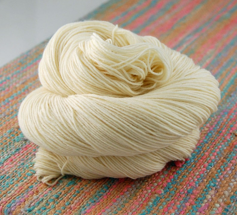Wonder Sock yarn NAKED undyed 465 yards 100 grams 75/25