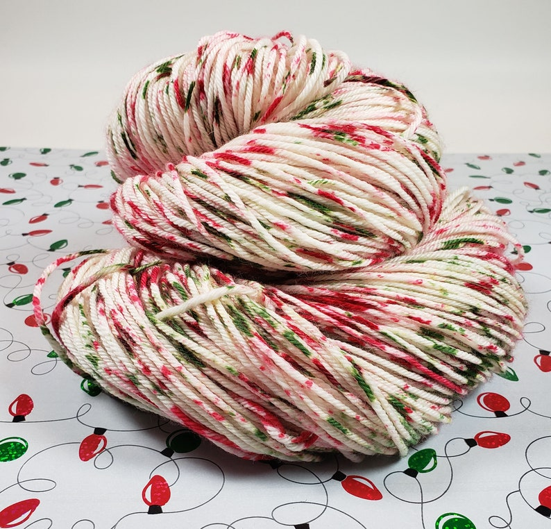 Full Figure Gal  Peppermint Candy  DK light worsted image 0