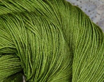 """MYS 622 """"Pine """" -400 yards 100 grams- 60/20/20 superwash merino, Yak and silk"""