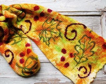 "Double knit Sock Blanks- ""dancing Leaf"""