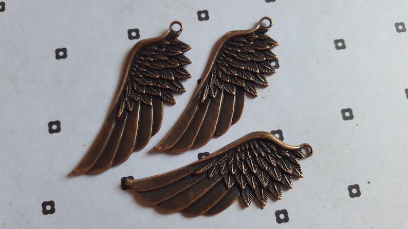 20pcs Antiqued copper Wings