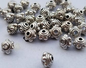Silver plated Bead Spacers (25)