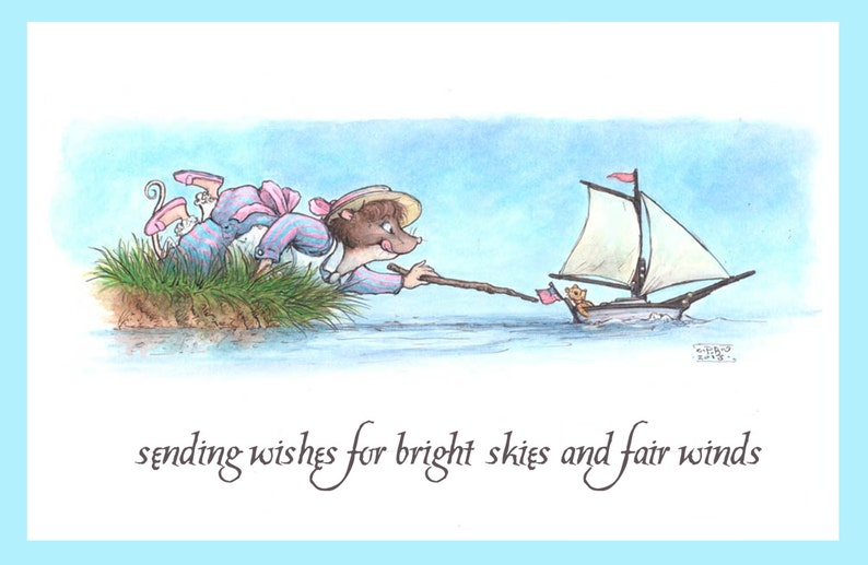 Bright skies and fair winds Fox Hollow Tales greeting card