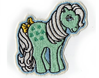 Little Mint Green Clover Pony Sew On Patch