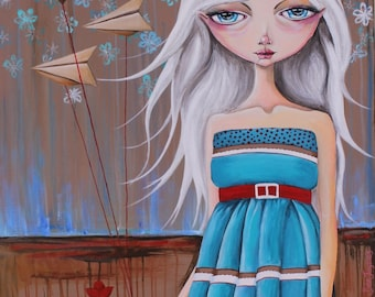 SALE She Dreams of Flight: Reproduction A4
