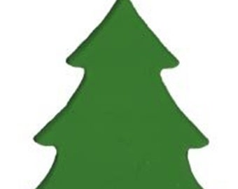 Small Light Green Stained Glass Tree, Translucent Fusible Stained Glass System 96, Pre-cut Green Christmas Tree