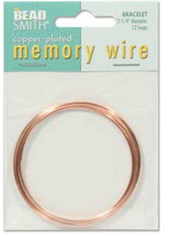 BEADSMITH SILVER PLATED MEMORY WIRE ASSORTMENT OF 5 SIZES JEWELLERY WIRE